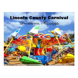 Carnaval del condado de Lincoln - Brookhaven, Postal