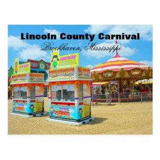 Carnaval del condado de Lincoln - Brookhaven, Tarjeta Postal