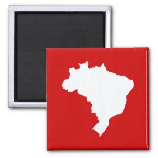 Carnaval el Brasil festivo rojo en Emporio Moffa Imán Cuadrado