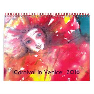 Carnaval en la mascarada 2016 de Venecia /Italian Calendario