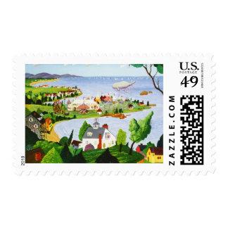 Carnaval en la playa timbres postales