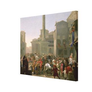 Carnaval en Roma, c.1650-51 Impresión En Lienzo