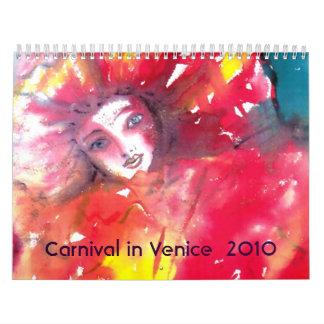 Carnaval en Venecia 2010 Calendario De Pared