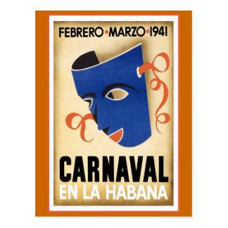 Carnaval en viaje del vintage de La Habana Postal