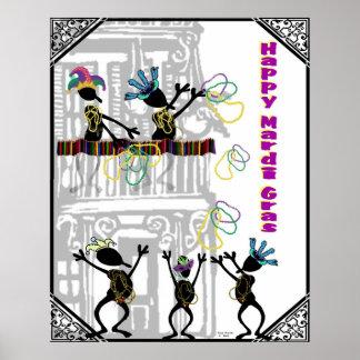 Carnaval feliz--Escena del balcón Póster
