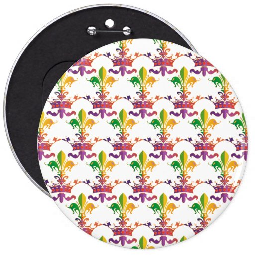 Carnaval Fleur de Crown Pin Redondo 15 Cm