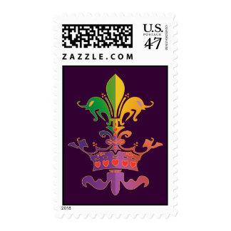 Carnaval Fleur de CROWN Sello Postal