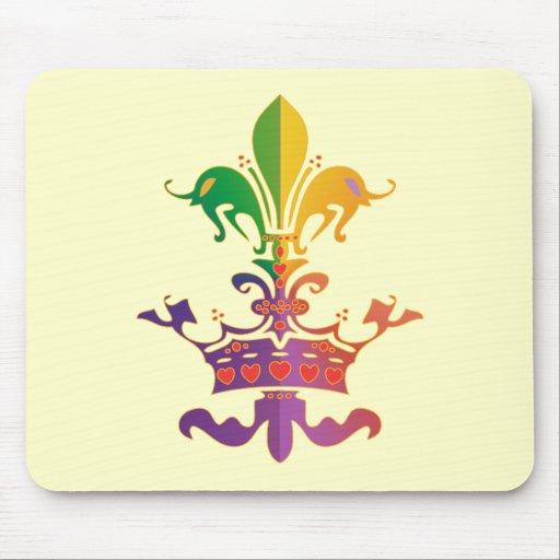 Carnaval Fleur de Crown Tapetes De Ratón