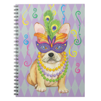 Carnaval Frenchie Spiral Notebooks