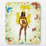carnaval girl.ai amarillo alfombrilla de ratón