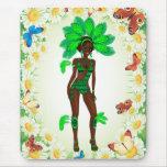 carnaval girl.ai verde alfombrilla de ratón