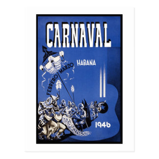 Carnaval Habana travel poster Postcard