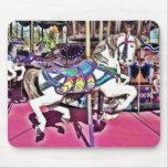Carnaval hermoso Mousepad del caballo del carrusel Alfombrillas De Ratones