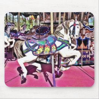 Carnaval hermoso Mousepad del caballo del carrusel