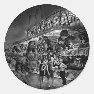 Carnaval - Juego-UNo-Rama Pegatina Redonda