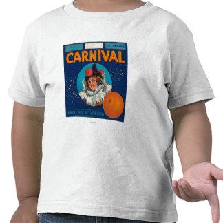 Carnaval LabelAnaheim anaranjado, CA Camiseta