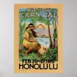 Carnaval Mediados de-Pacífico - Honolulu - 1915 Posters