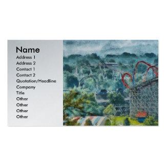 Carnaval - montaña rusa - la atracción emocionante tarjetas de visita