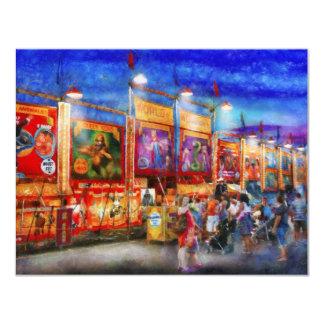 """Carnaval - mundo de maravillas invitación 4.25"""" x 5.5"""""""