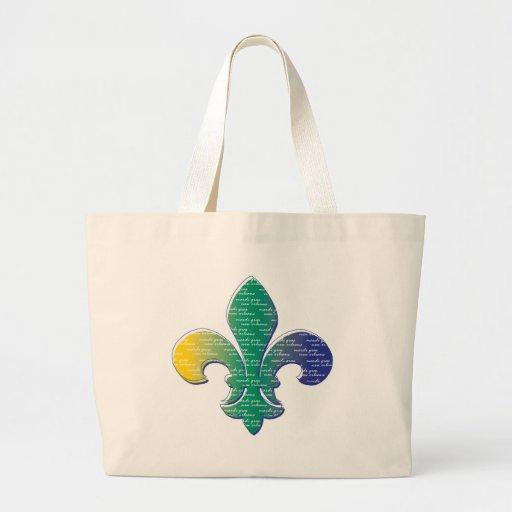 Carnaval New Orleans de la flor de lis Bolsas Lienzo