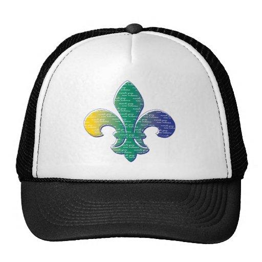 Carnaval New Orleans de la flor de lis Gorro