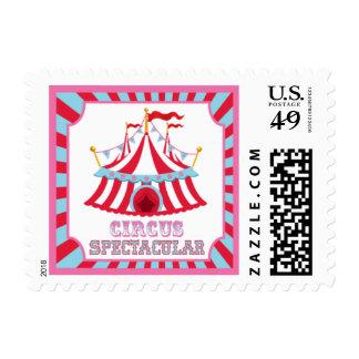 Carnaval o franqueo del circo sellos