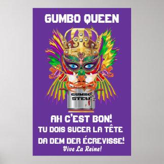 """Carnaval opinión de la reina Gumbo 40x60 la"""" hace  Posters"""