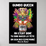 """Carnaval opinión de la reina Gumbo 40x60 la"""" hace  Impresiones"""