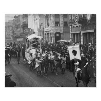 Carnaval Parade, 1906. Foto del vintage Póster