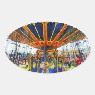Carnaval - paseo estupendo del oscilación calcomanía ovaladas personalizadas