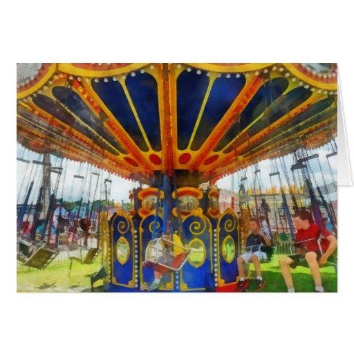 Carnaval - paseo estupendo del oscilación felicitación