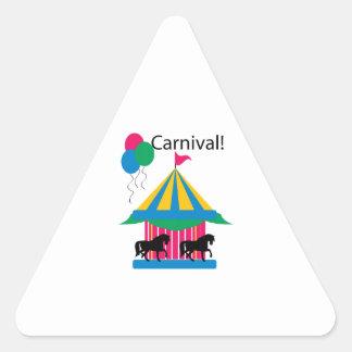 ¡Carnaval! Pegatina Triangular