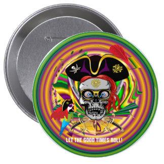 Carnaval Pin Redondo 10 Cm