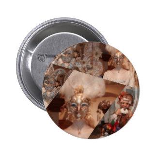 carnaval pinback button