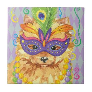 Carnaval Pomeranian Azulejo Cuadrado Pequeño