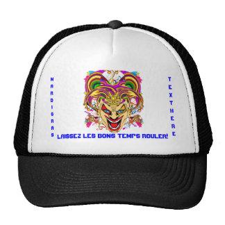 Carnaval que satisfacen ven notas gorras de camionero