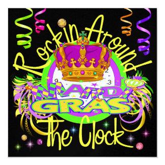 Carnaval - real Rockin las veinticuatro horas del Invitación 13,3 Cm X 13,3cm