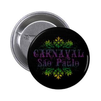 Carnaval Sao Paulo Pinback Button