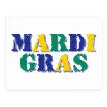 Carnaval Tri coloreado Tarjetas Postales