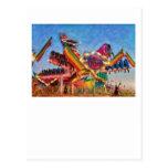 Carnaval - un paseo más colorido tarjeta postal
