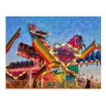Carnaval - un paseo más colorido tarjetas postales