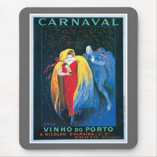 Carnaval Vinho hace arte del anuncio del vino del  Alfombrilla De Ratón