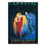 Carnaval Vinho hace arte del anuncio del vino del  Tarjetas