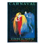 Carnaval Vinho hace arte del anuncio del vino del  Tarjeta Postal