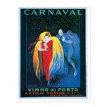 Carnaval Vinho hace arte del anuncio del vino del Tarjetas Postales