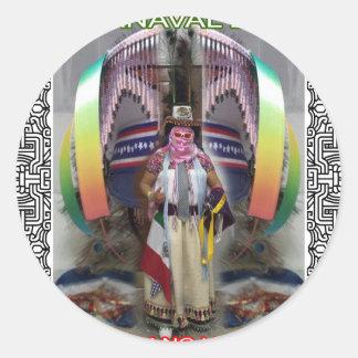 CARNAVAL XOCHIMILCO PUEBLA MEXICO CUSTOMIZABLE PRO CLASSIC ROUND STICKER