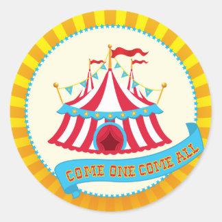 Carnaval y fiesta del circo pegatina redonda
