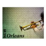 Carnaval y jazz Photomanipulation de New Orleans Postal