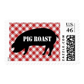 Carne asada a cuadros del cerdo de la tela del cer