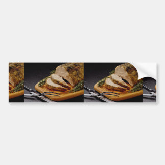 Carne asada de cerdo cortada deliciosa pegatina de parachoque